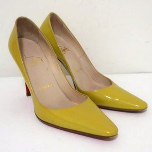 Christian Louboutin Point Toe Pump Yellow Size 36